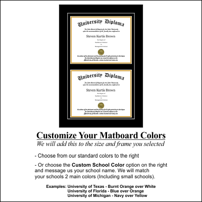 Amazon Double Diploma Frame With Double Matting For 85 X 11
