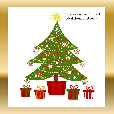 amazon com christmas card address book list organizer with a z