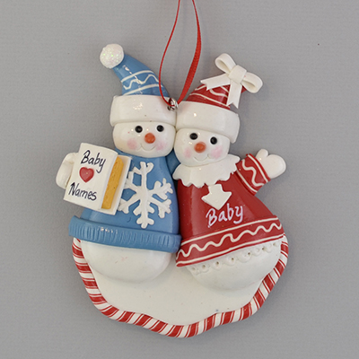 Very best Amazon.com: A Pregnant Couple Personalized Christmas Ornament  NW48