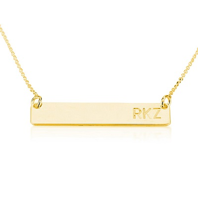 Amazon bar necklace personalized name necklace 18k gold plated error message aloadofball Images