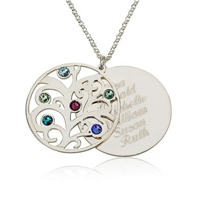 Amazon personalized family necklace birthstones pendant 925 error message aloadofball Images