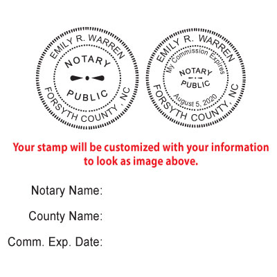 Amazon Round Notary Stamp For State Of North Carolina Self