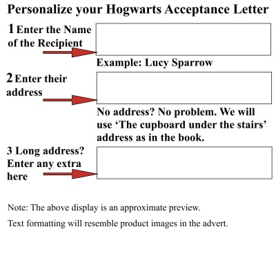 Amazon.Com : Harry Potter School Acceptance Letter Gift Pack