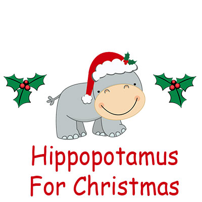I Want A Hippocampus For Christmas.Hippopotamus For Christmas Personalized Stuffed Hippo Gift Set