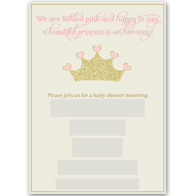 Amazon princess baby shower invitations girl pink gold error message filmwisefo