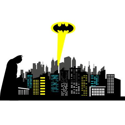 Amazon.com: Chic Walls removable Gotham City Skyline ...