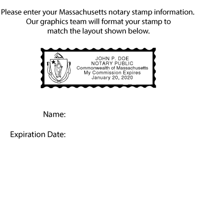 Amazon Massachusetts Notary Self Inking Rubber Stamp