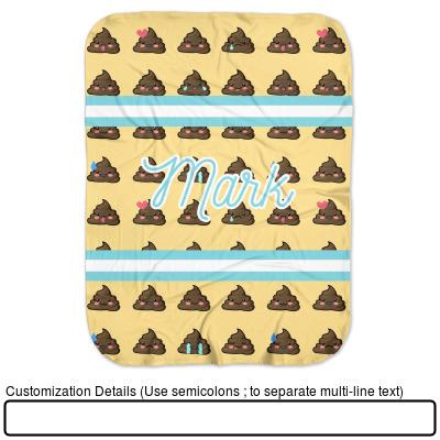 Amazon.com: Poop Emoji - Manta para bebé (personalizable): Baby