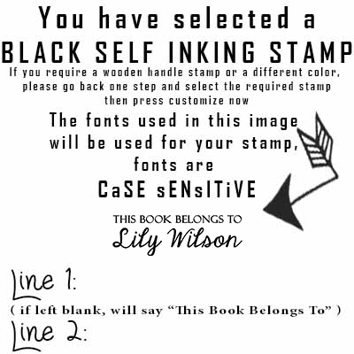 Amazon This Book Belongs To Personalized Self Inking Stamp