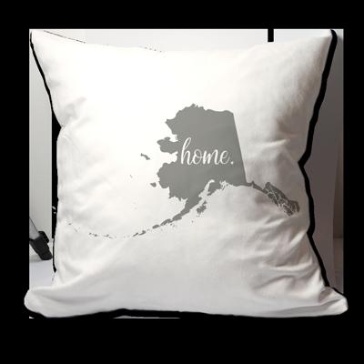 Amazon.com: Personalizado Estado de Alaska Home Throw Pillow ...