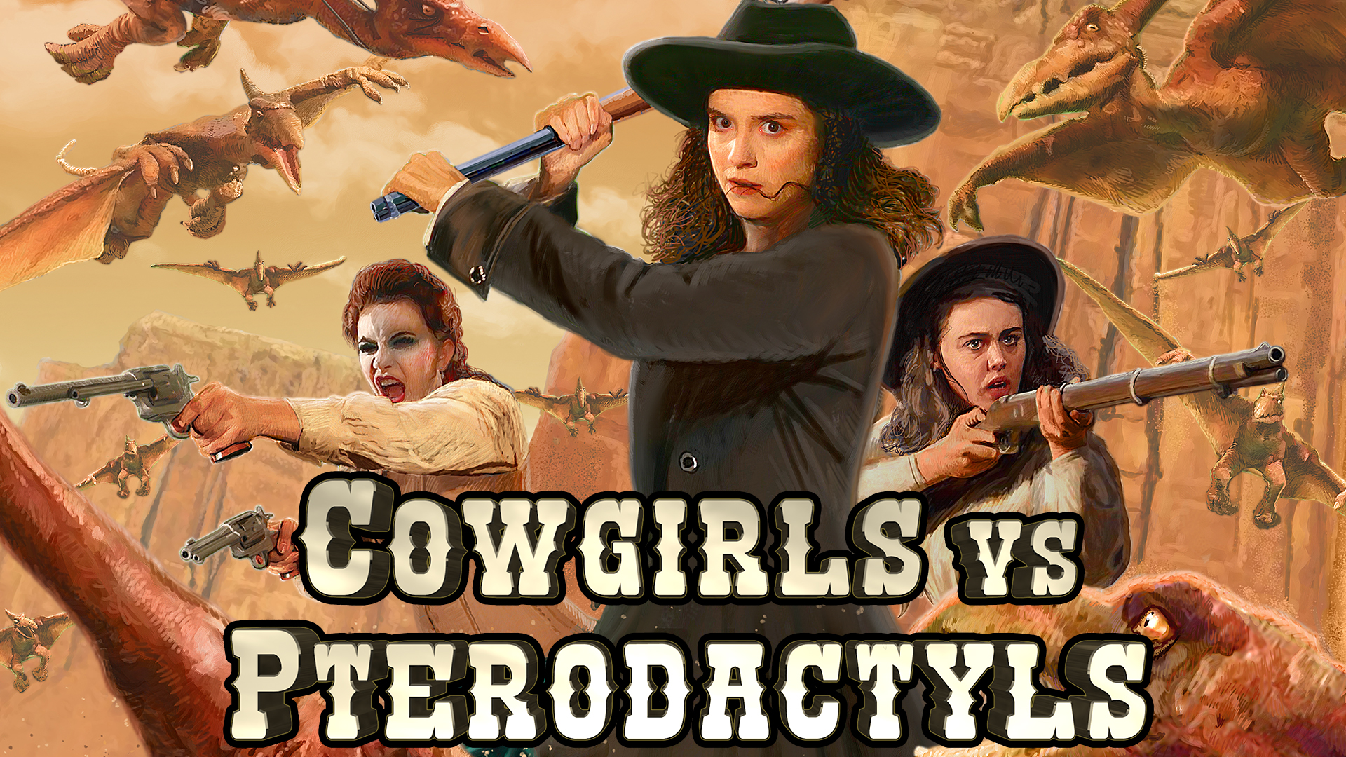 Cowgirls vs Pterodactyls