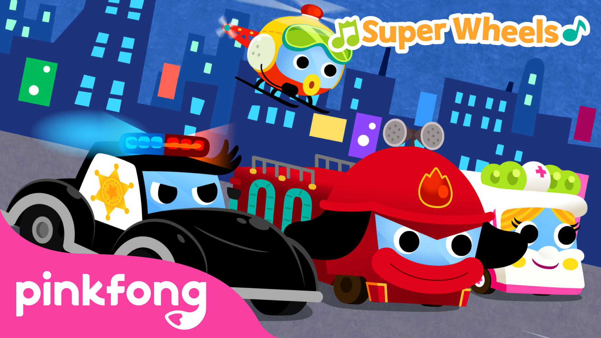 Pinkfong! Super Wheels (Cars, Trucks, Buses and More)