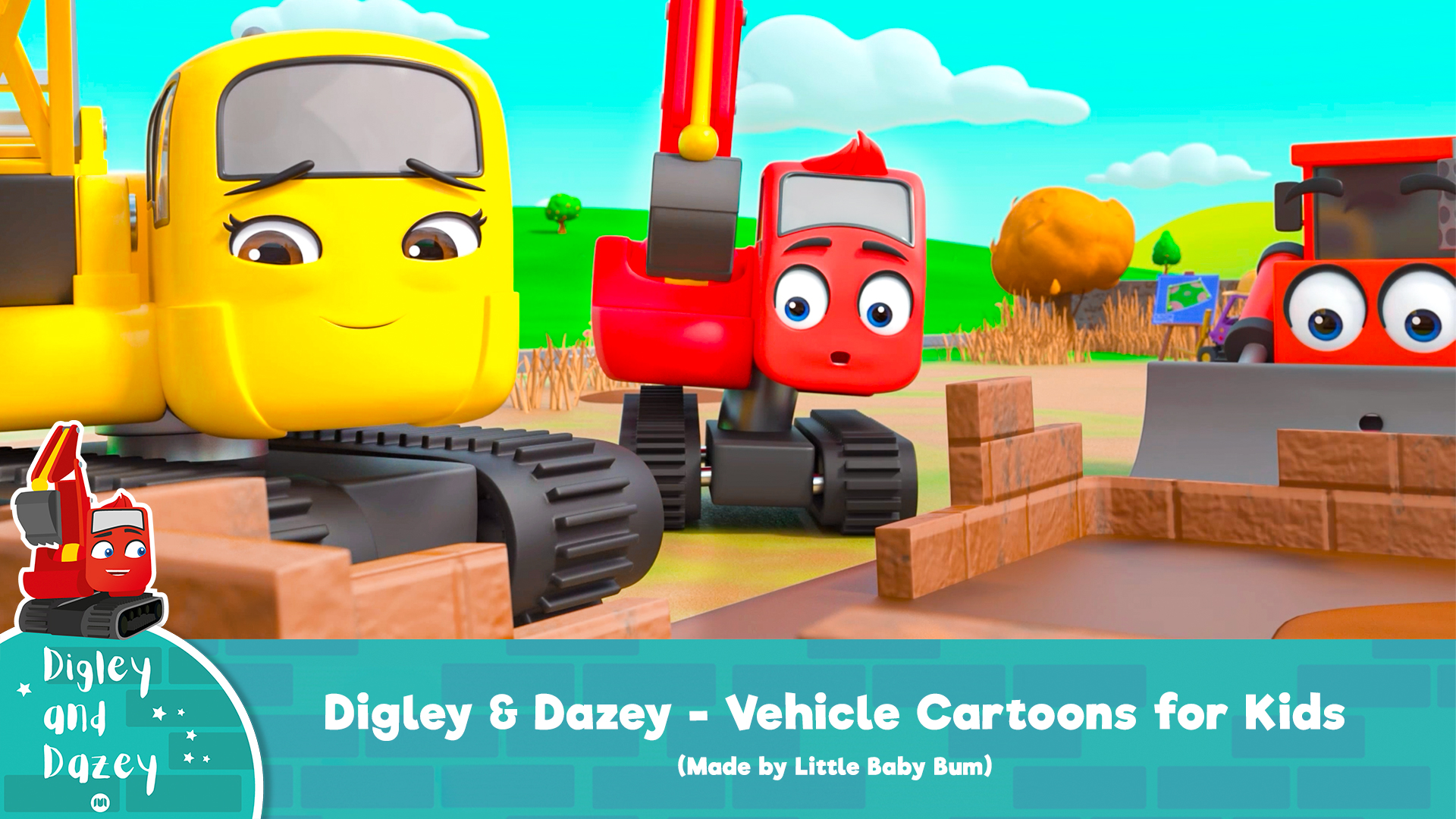 Digley & Dazey - Vehicle Cartoons for Kids (Made by Little Baby Bum) on Amazon Prime Video UK