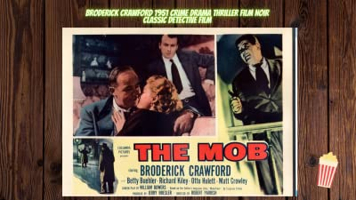 Broderick Crawford in The Mob Crime Detective Film Noir Detective 1952 Classic