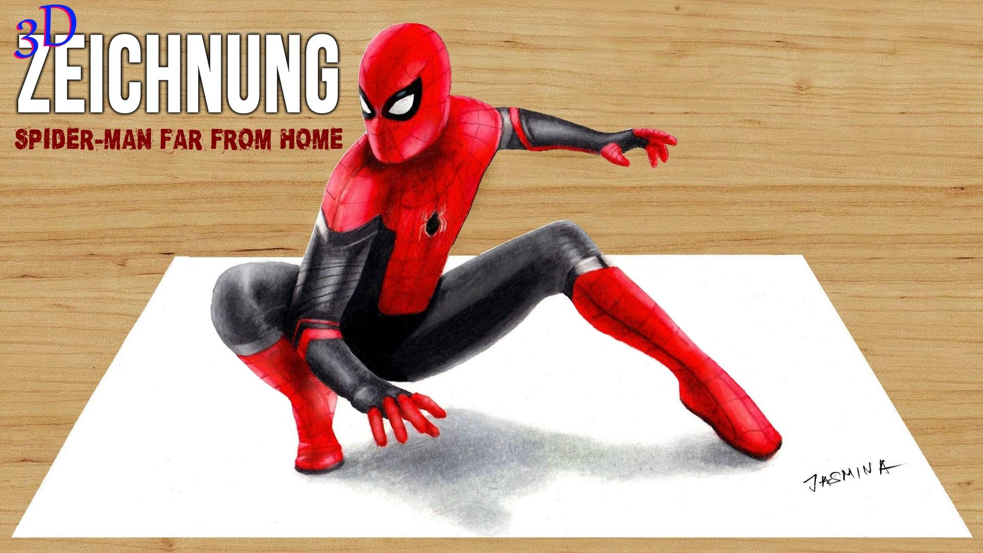 Clip 3d Zeichnung Spider Man Far From Home Jasmina Susak