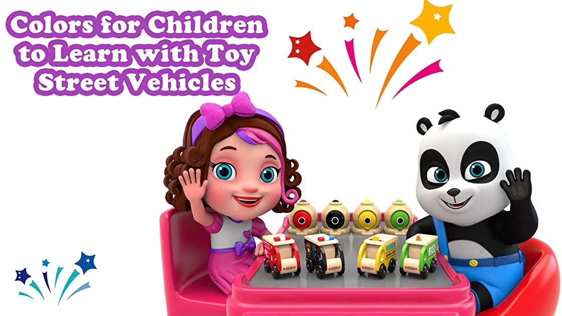 Colors for Children to Learn with Toy Street Vehicles