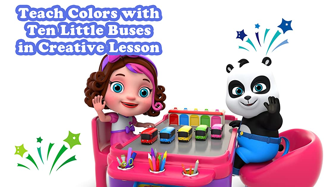 Teach Colors with Ten Little Buses in Creative Lesson