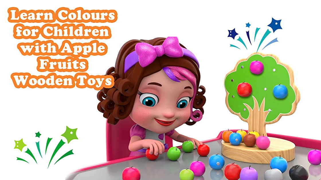 Learn Colours for Children with Apple Fruits Wooden Toys on Amazon Prime Instant Video UK