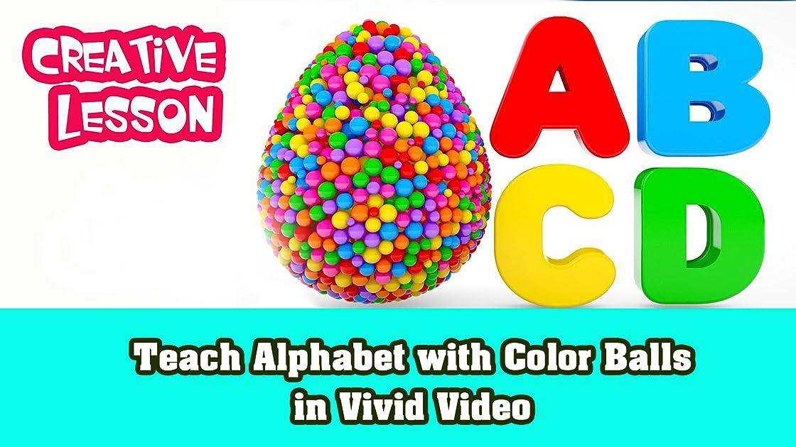 Teach Alphabet with Color Balls in vivid video