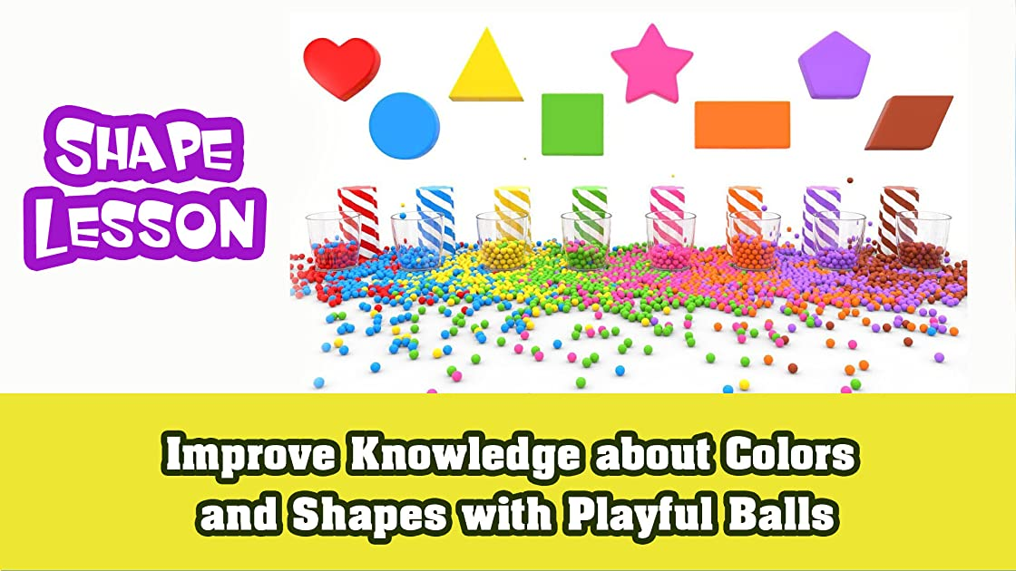 Improve knowledge about Colors and Shapes with playful balls