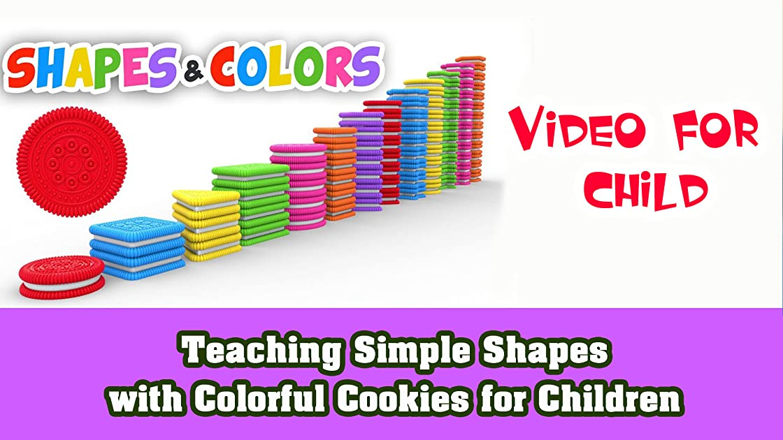 Teaching simple Shapes with Colorful Cookies for Children