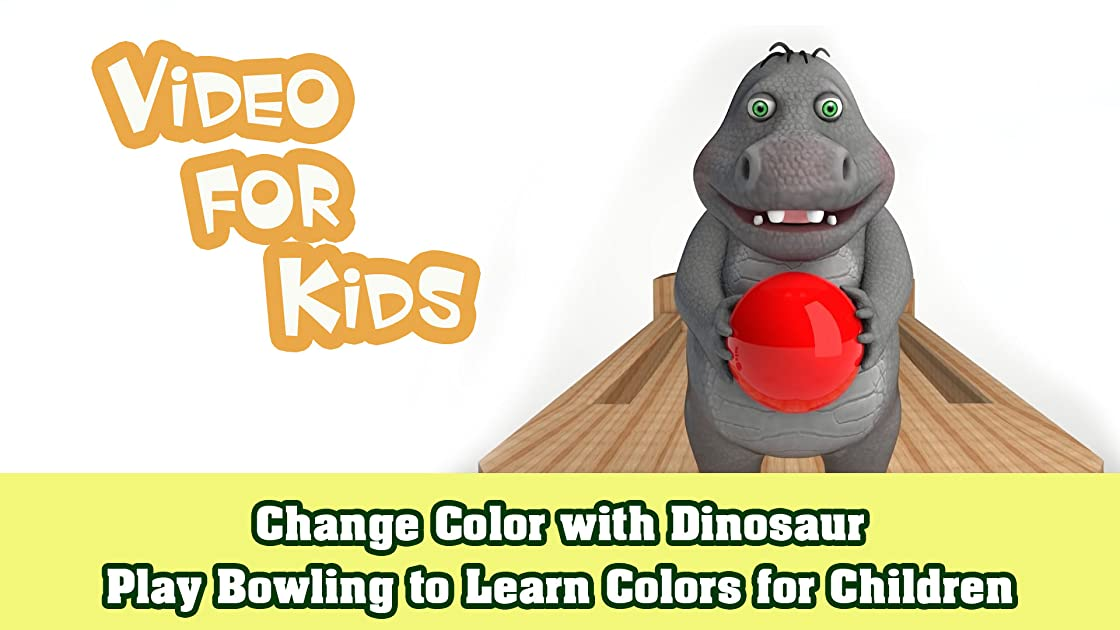 Change Color with Dinosaur Play Bowling to Learn Colors for Children