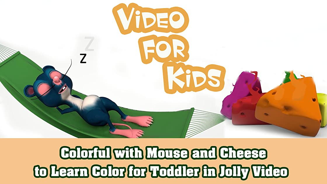 Colorful with Mouse and Cheese to Learn Color for Toddler in Jolly Video