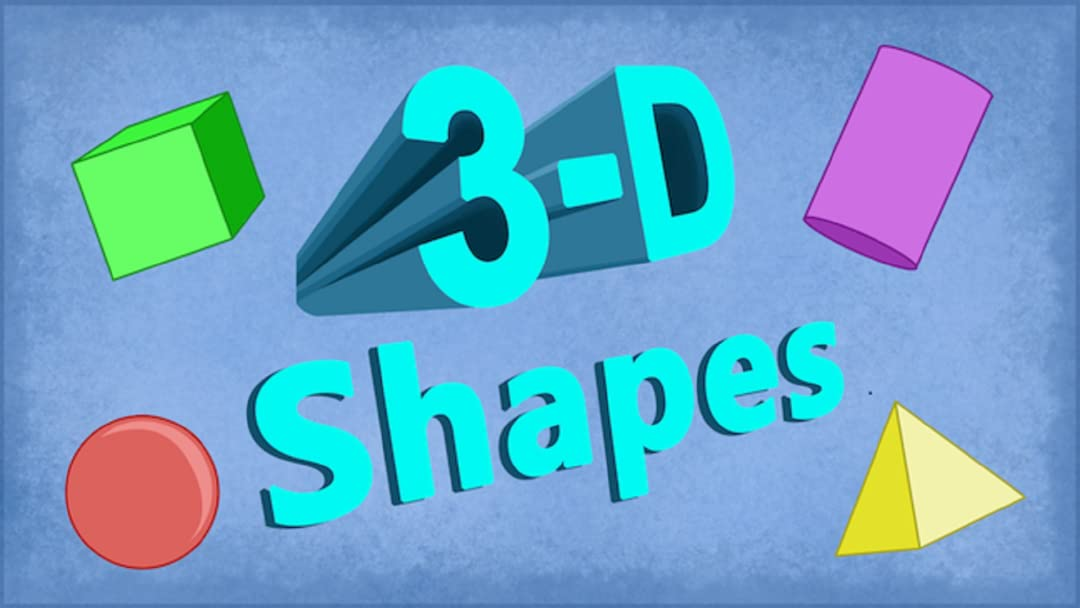 3D Shapes Song For Kids: Educational Video For Primary Math Students