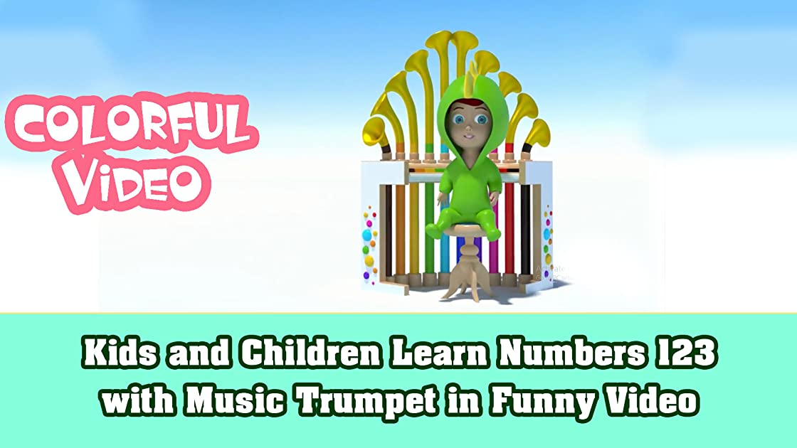 Kids and Children Learn Numbers 123 with Music Trumpet in Funny Video