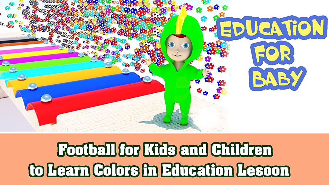 Football for Kids and Children to Learn Colors in Education Lesoon