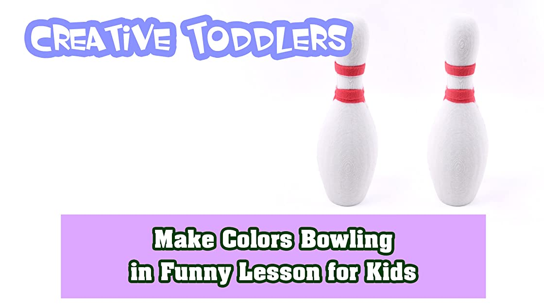 Make Colors Bowling in Funny Lesson for Kids
