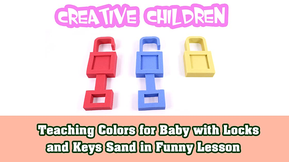 Teaching Colors for Baby with Locks and Keys Sand in Funny Lesson