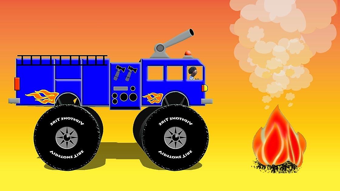 Blue Fire Truck
