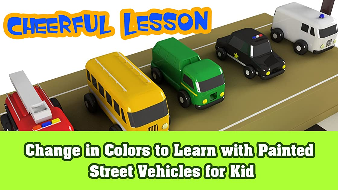 Change in Colors to Learn with Painted Street Vehicles for Kid