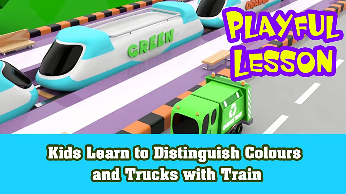 Kids Learn to Distinguish Colours and Trucks with Train