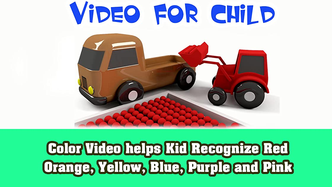 Color Video helps Kid Recognize Red, Orange, Yellow, Blue, Purple and Pink