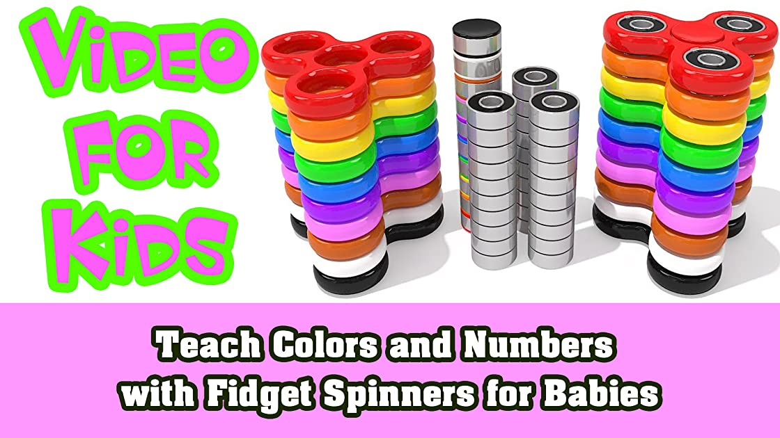 Teach Colors and Numbers with Fidget Spinners for Babies