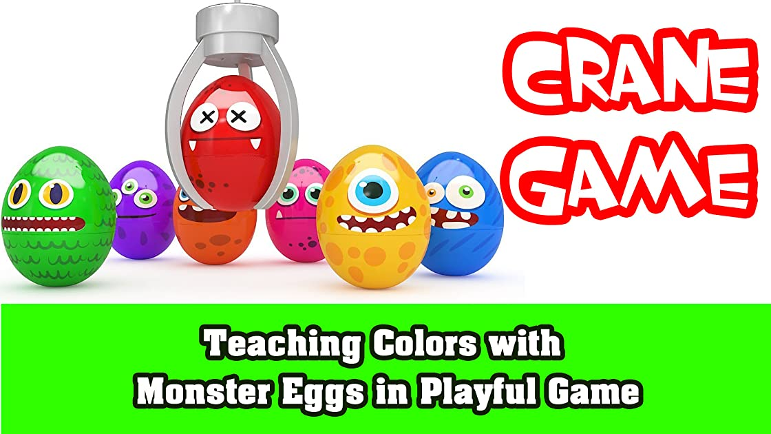 Teaching Colors with Monster Eggs in Playful Game