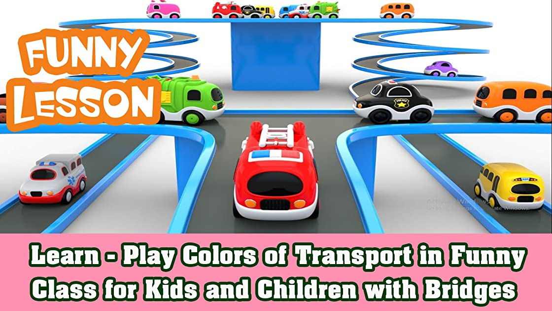 Learn - Play Colors of Transport in Funny Class for Kids and Children with Bridges on Amazon Prime Instant Video UK