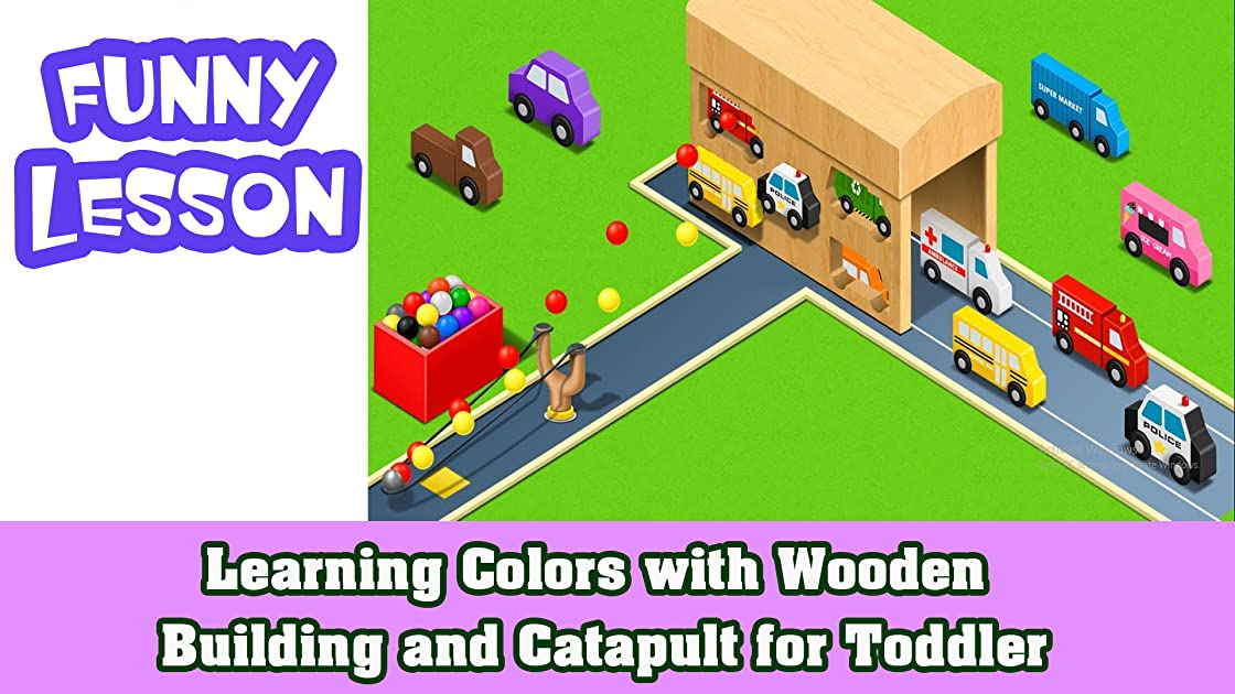Learning Colors with Wooden Building and Catapult for Toddler on Amazon Prime Instant Video UK