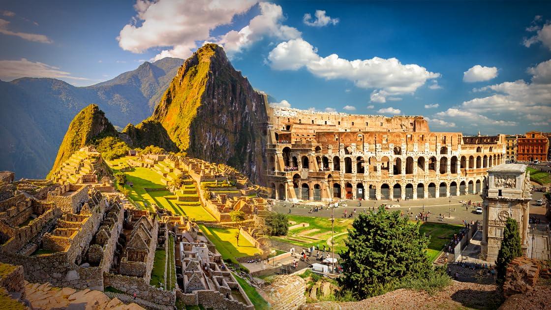 Machu Picchu & The Colosseum