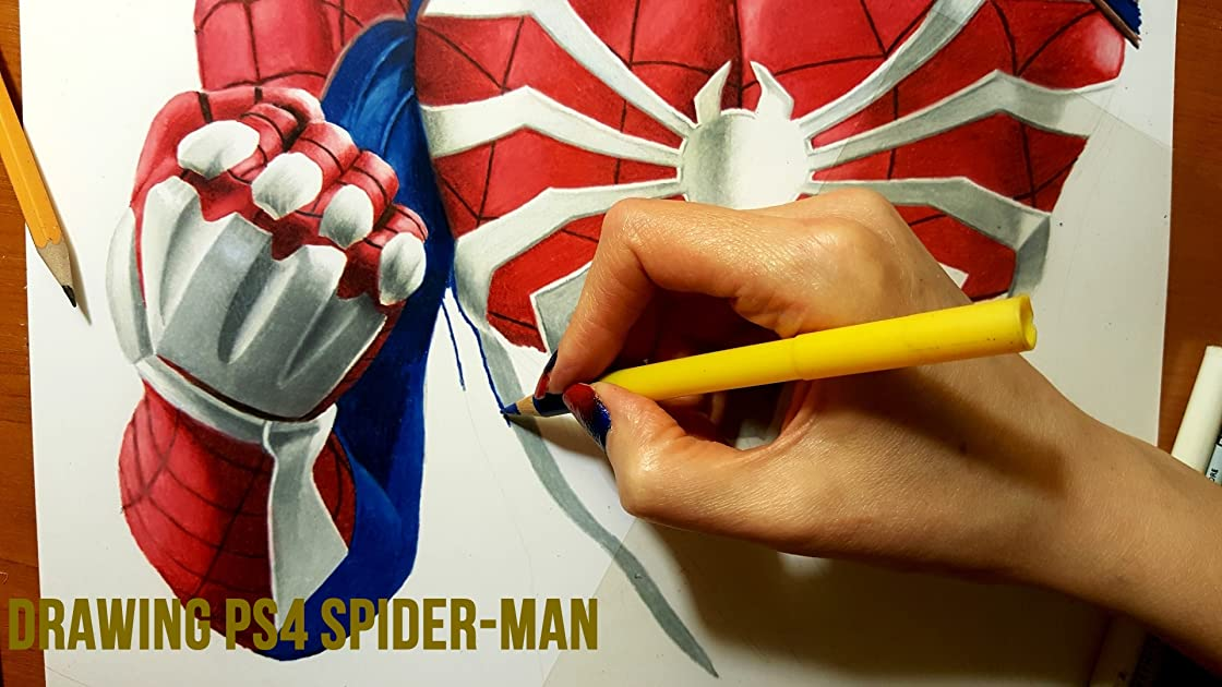 Drawing PS4 Spider-Man on Amazon Prime Instant Video UK