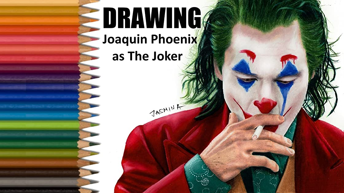 Drawing Joaquin Phoenix as The Joker