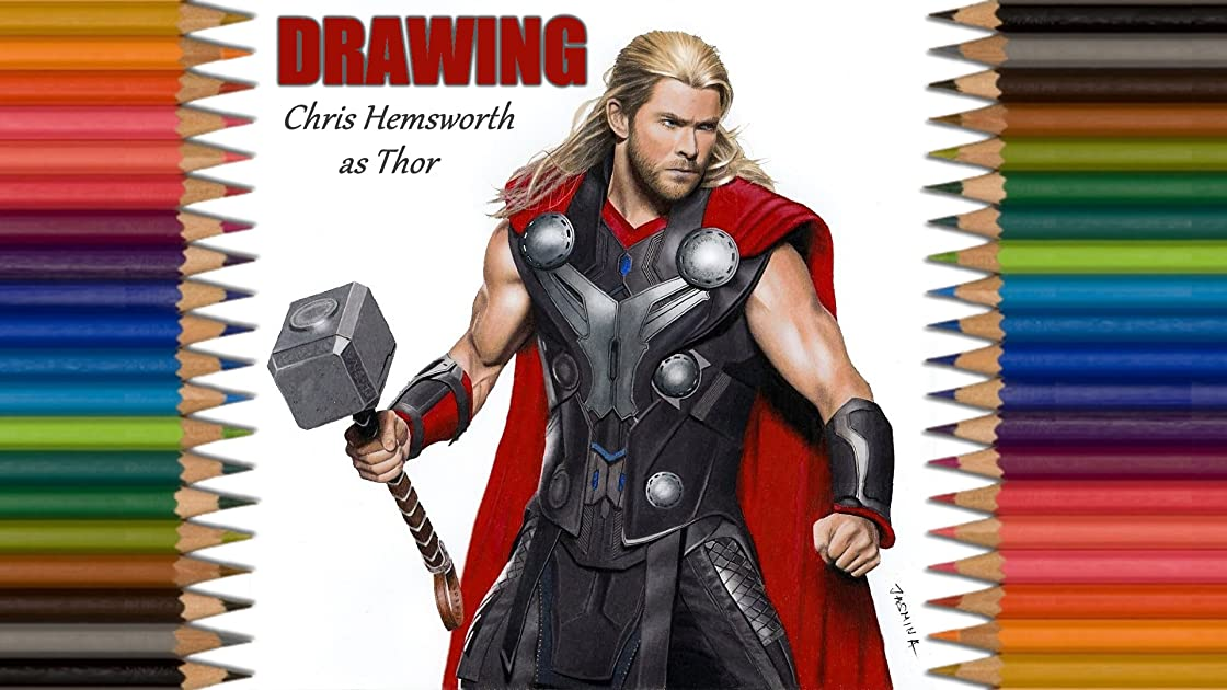 Clip: Drawing Chris Hemsworth as Thor