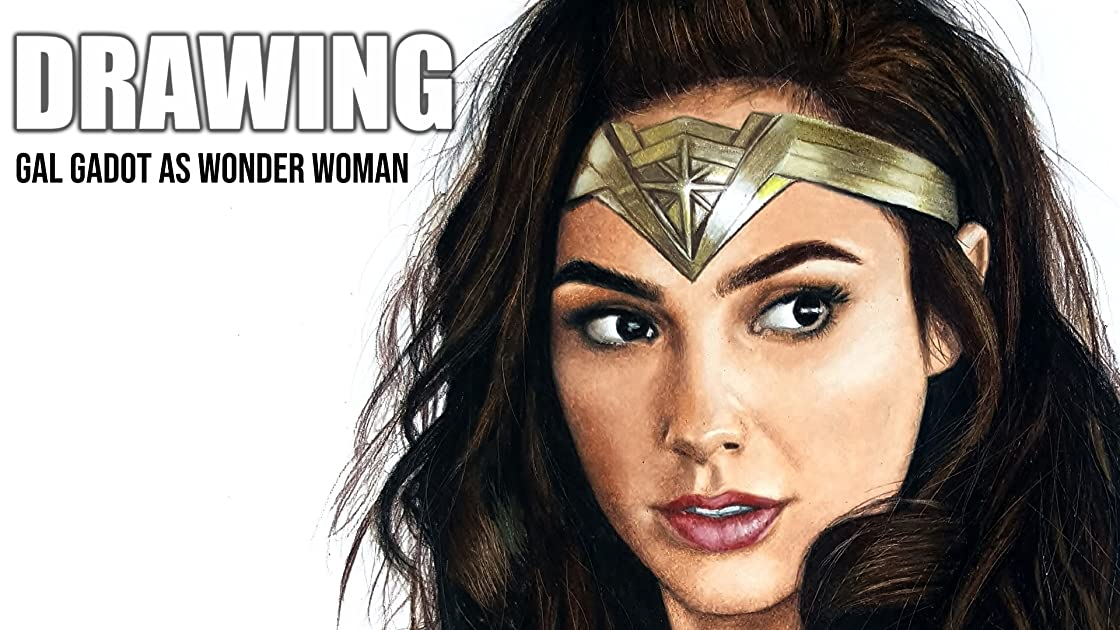 Clip: Drawing Gal Gadot as Wonder Woman on Amazon Prime Instant Video UK