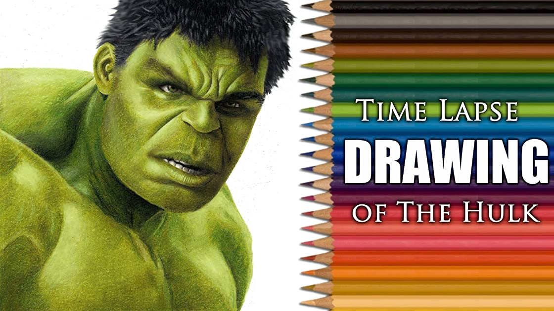 Clip: Time Lapse Drawing of The Hulk