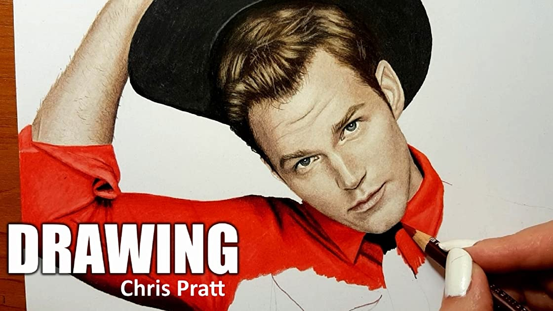 Drawing Chris Pratt on Amazon Prime Instant Video UK