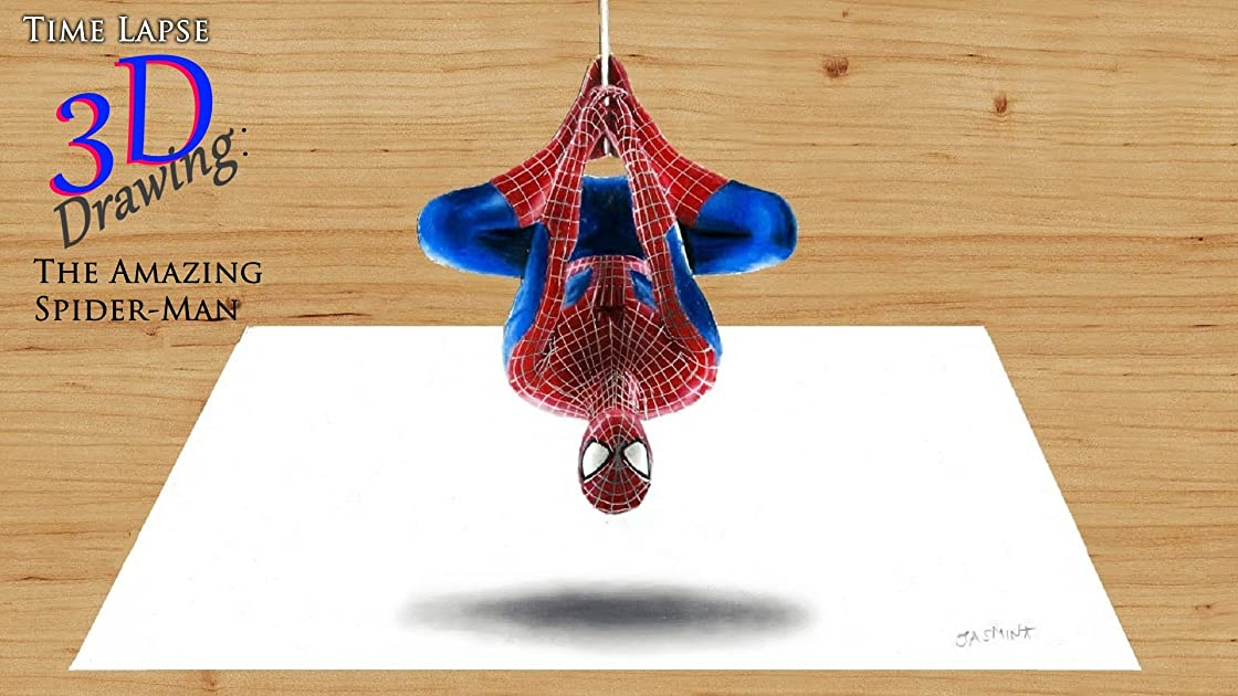 Clip: Time Lapse 3D Drawing: The Amazing Spider-Man