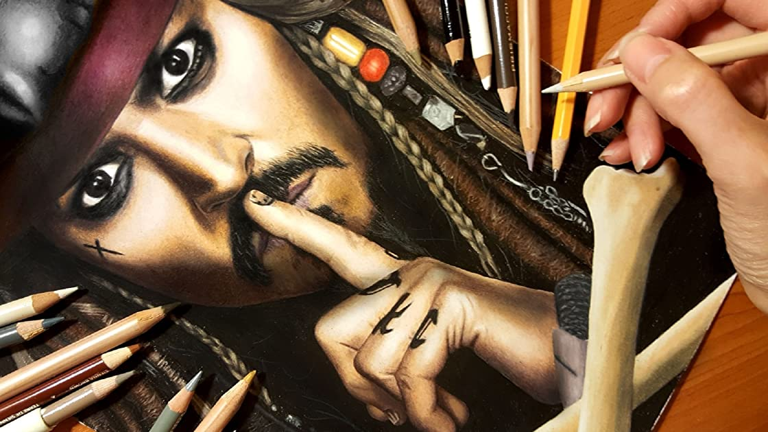 Real Time Drawing of Captain Jack Sparrow - Season 1