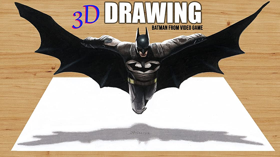 Clip: 3D Drawing Batman from Video Game